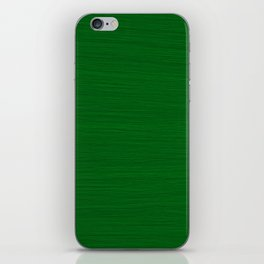 Emerald Green Brush Texture - Solid Color iPhone Skin