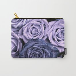 PURPLE ROSES floral flowers violet Carry-All Pouch