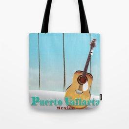 Puerto Vallarta Mexico travel poster art. Tote Bag