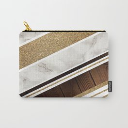 Granite/Wood Gold Pattern Carry-All Pouch