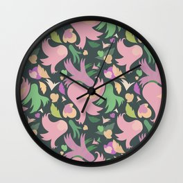 The powerful and pink spring is coming Wall Clock