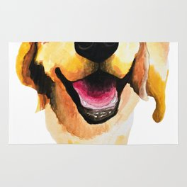 Good Boy / Yellow Labrador Retriever dog art Rug