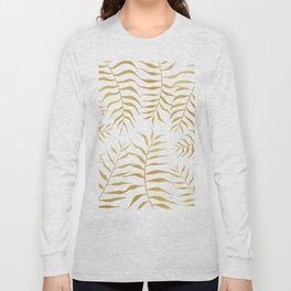 Gold palm leaves Long Sleeve T-shirt