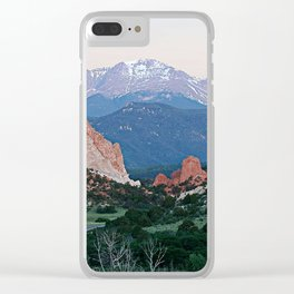 Sunrise at Garden of the Gods and Pikes Peak Clear iPhone Case