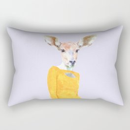 Fashionable Antelope Illustration Rectangular Pillow