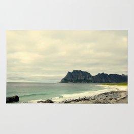 beach cliff Rug