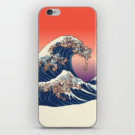 The Great Wave of Dachshunds iPhone Skin