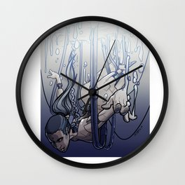 female cyborg Wall Clock