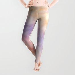 Rainbow marble texture 1 Leggings