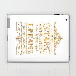 To the Stars - White Laptop & iPad Skin