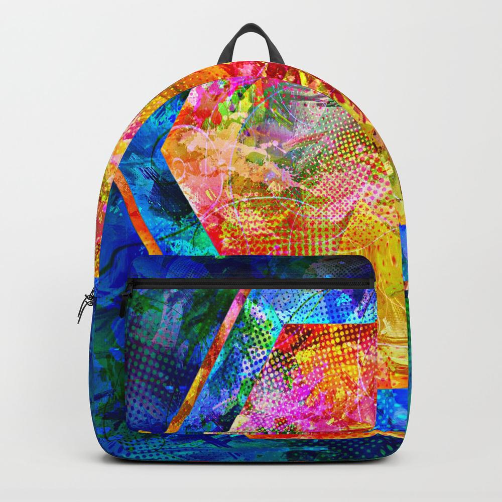 Hexagon In Complementary Colors Backpack by Danaroper BKP9003343