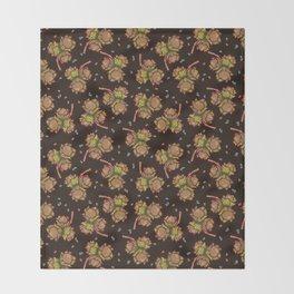 Dark hazelnuts pattern Throw Blanket