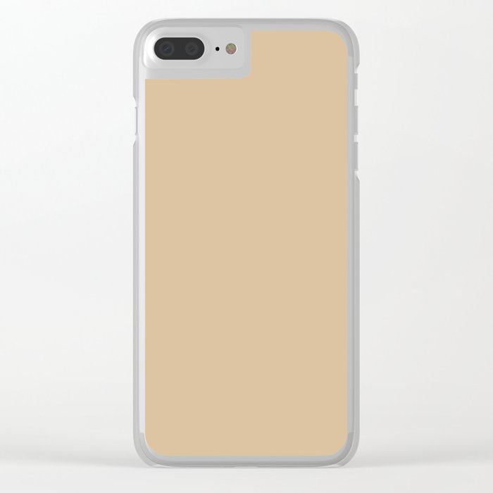 Almond Baby Camel 2018 Fall Winter Color Trends Clear iPhone Case