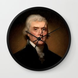 President Thomas Jefferson Wall Clock
