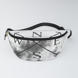 Foggy Forest Compass Fanny Pack
