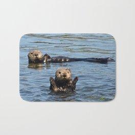 sea otter hello Bath Mat