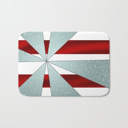4Shades Glass: Red White Bath Mat