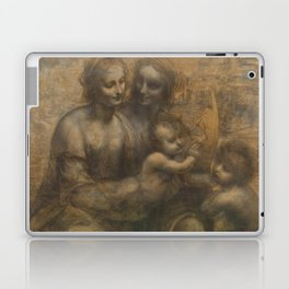 The Virgin and Child with St Anne and St John the Baptist by Leonardo da Vinci Laptop & iPad Skin