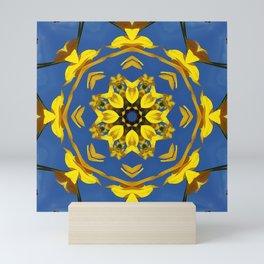 Yellow Coneflower, Ratibida, Kaleidoscope 793 #society6 #kaleidoscope Mini Art Print