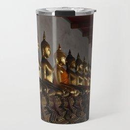 Buddha in a Row Travel Mug