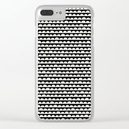 White Clouds in The Black Sky Clear iPhone Case