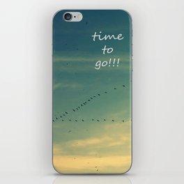 flying birds iPhone Skin