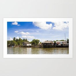 Krabi Riverside Life Art Print