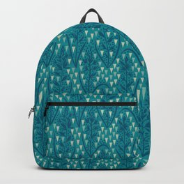 Botanical pattern with triangles and dots Backpack