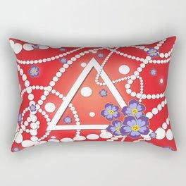 Petals and Pearls Rectangular Pillow