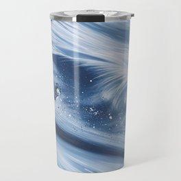 'Snowboarding Blue Blower' Travel Mug