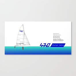 470 Olympic Sailing Canvas Print