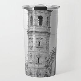 Black White Architecture in Valencia Travel Mug