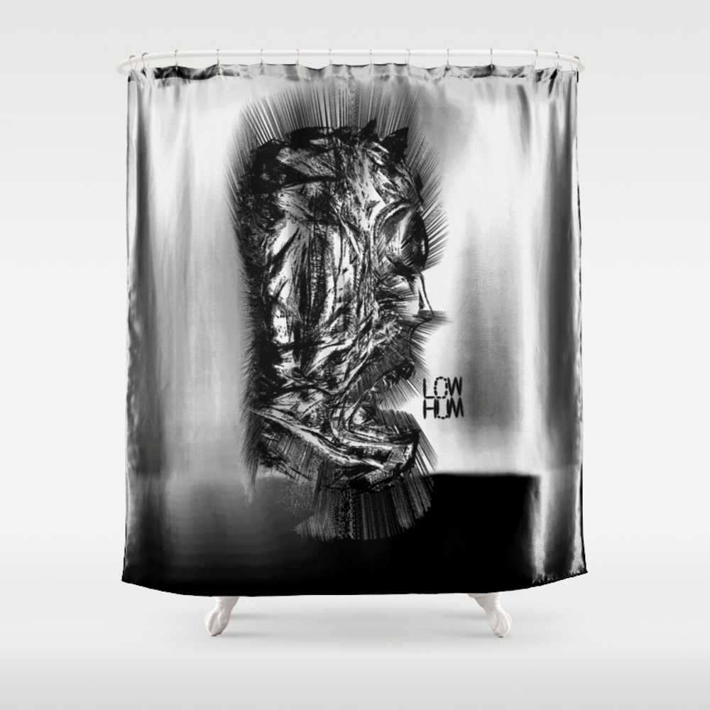 He Lives, In The Atoms Shower Curtain by Lowhum CTN8757361