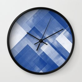 Untitled No. 8 | Blue + White Wall Clock