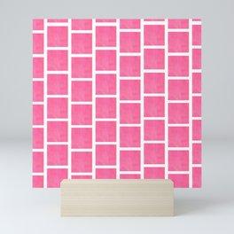 pink squared Mini Art Print
