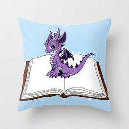 Book Dragon Mark 2 Throw Pillow