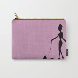 Flaunting The Pooch (Violet) Carry-All Pouch