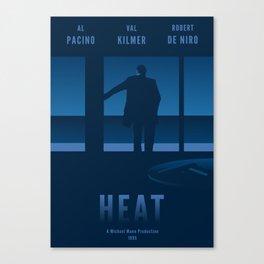 Heat - Tribute Movie Poster Canvas Print