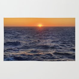 High Sea Windy Storm At Sunset Rug