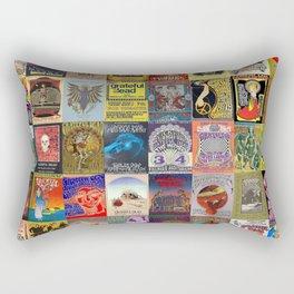 Deadhead Concert Posters Rectangular Pillow