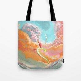Fantasy Dragon and Clouds Tote Bag