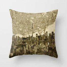 toronto city skyline Throw Pillow