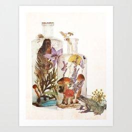 WITCH BOTTLES Art Print