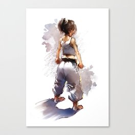 Karate Girl 2 ! Canvas Print