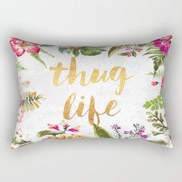 Thug Life - white version Rectangular Pillow