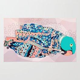 Bird and foulard Rug