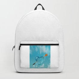 Stabbed water drop heart Backpack