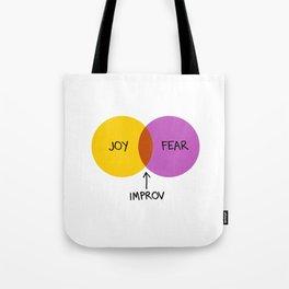 The Venn of Improv (Yellow/Violet) Tote Bag