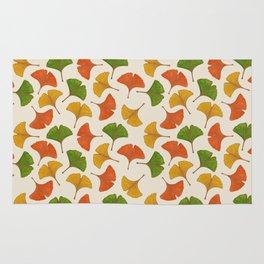 Fall ginkgo biloba leaves pattern Rug