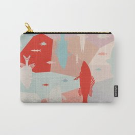 California Pastel Fish Carry-All Pouch